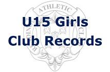 U15 Girls Club Records