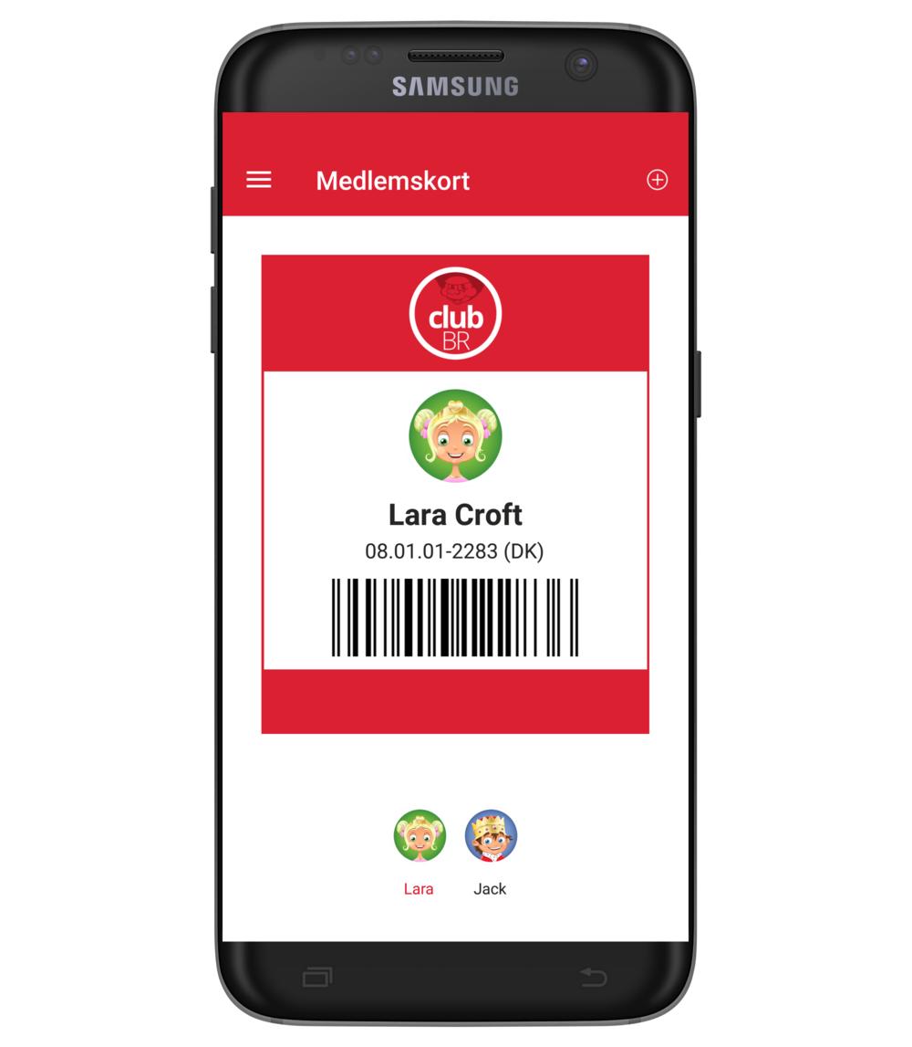 CLUB BR medlems app - Medlemskort