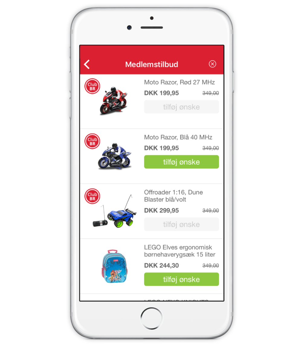 CLUB BR medlems app - Medlemstilbud