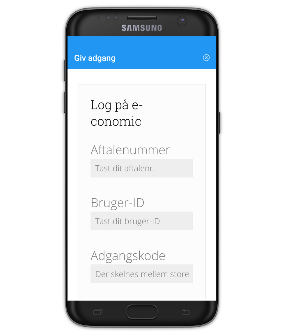 Copy of Timegnu Android app - Log på