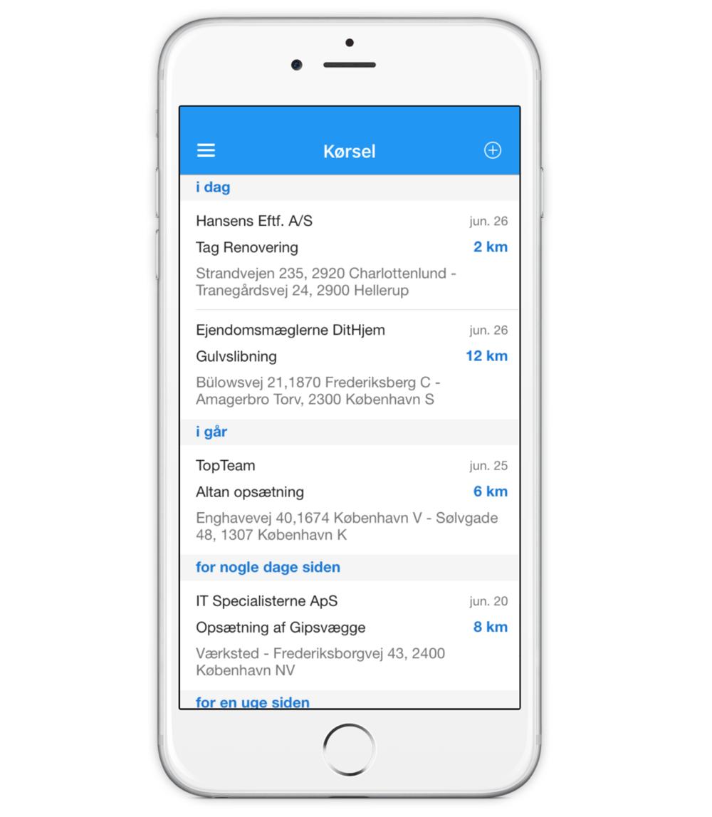 Copy of Timegnu IOS app - Oversigt over kørte km