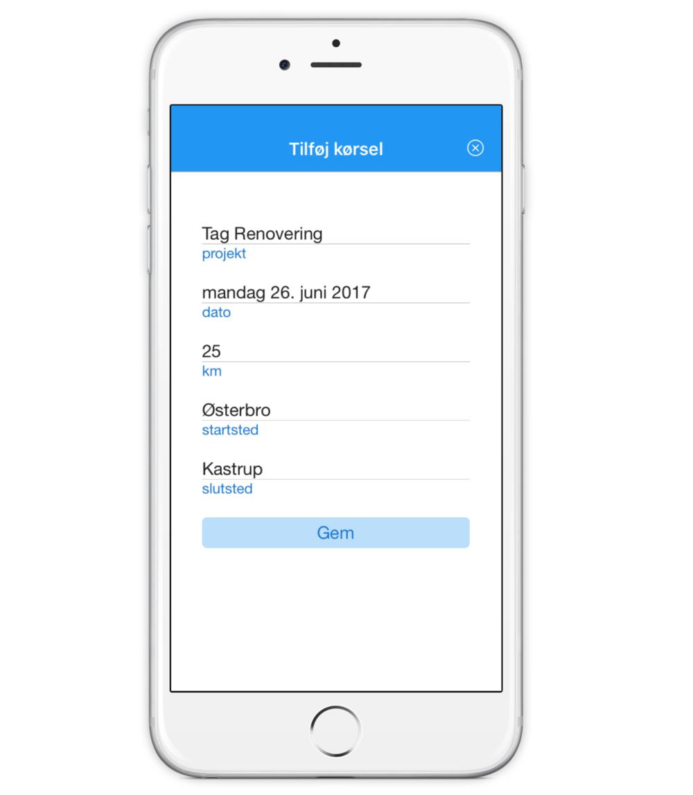 Copy of Timegnu IOS app - Registrering af kørsel