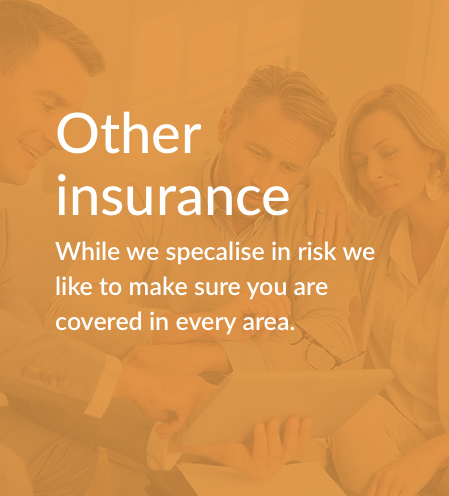 When you do look into your risk insurance it's also a good time to make sure you are well looked after in the areas of Fire and General as well as Wills and Trusts. We have top companies we work with that we recommend to our clients. -