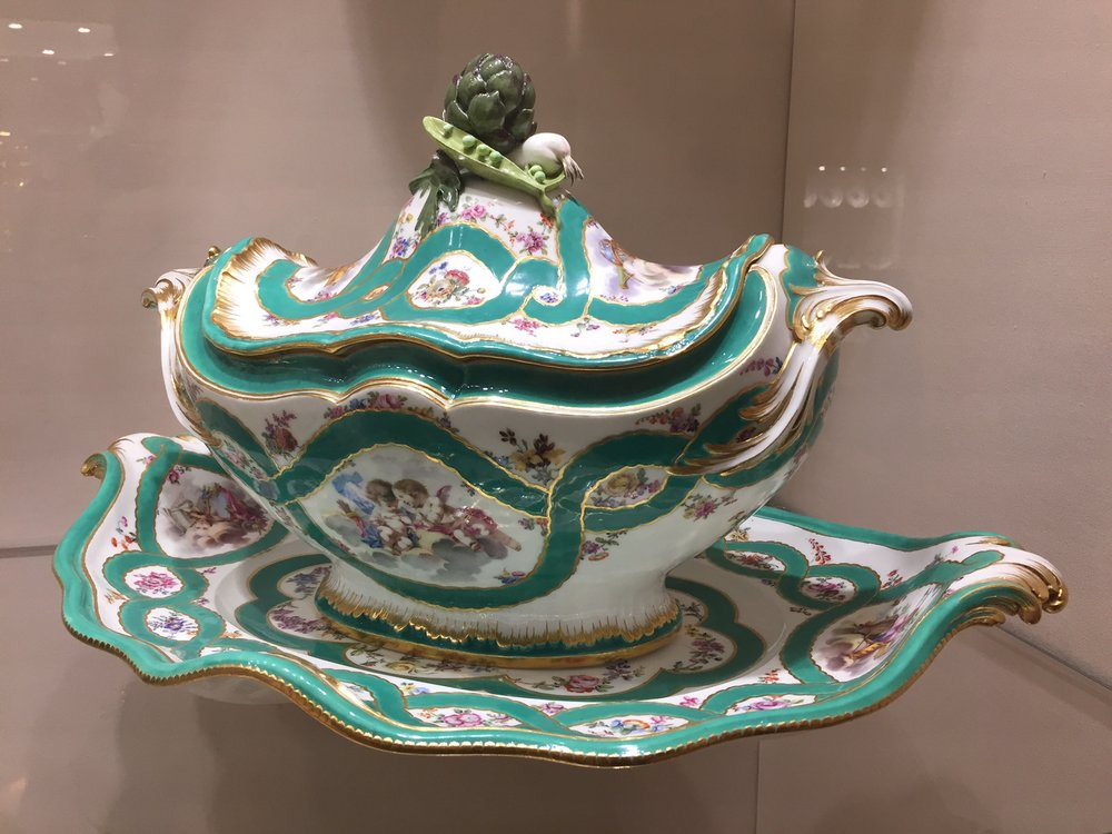 dishware in the Hofburg palace