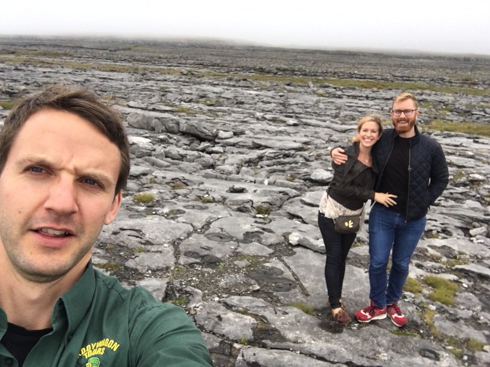 our tour guide in the west of Ireland - I could use my superpower with less than 10 feet between us. Jealous?