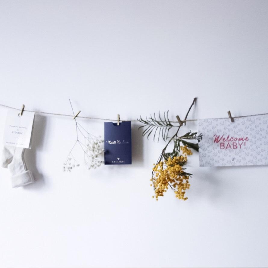 Chaussettes douillettes, carte cadeau, carte déco