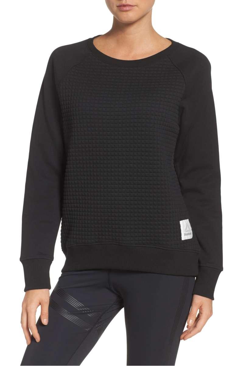 Reebok Quilted Crew Sweatshirt - Was $60 Now $39.90