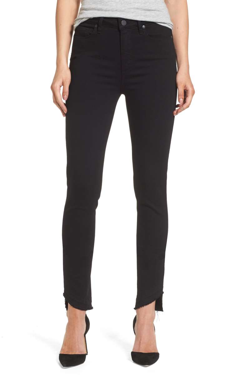 PAIGE Transcend Hoxton High Waist Undone Hem Skinny Jeans - Was $199 Now $131.90