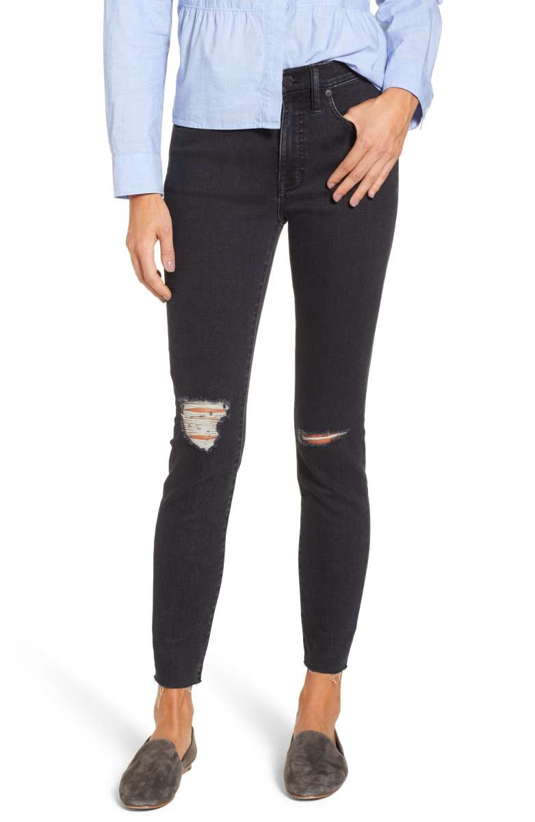 Madewell Ripped High Waist Skinny Jeans - Was $135 Now $89.90
