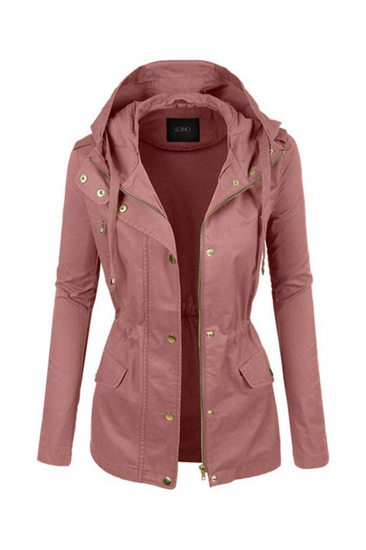 Rose Military Anorak Jacket | $42