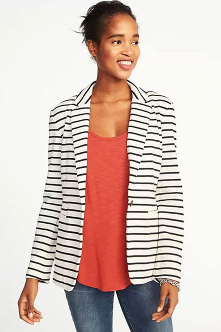 Classic Striped Knit Blazer | $39.99