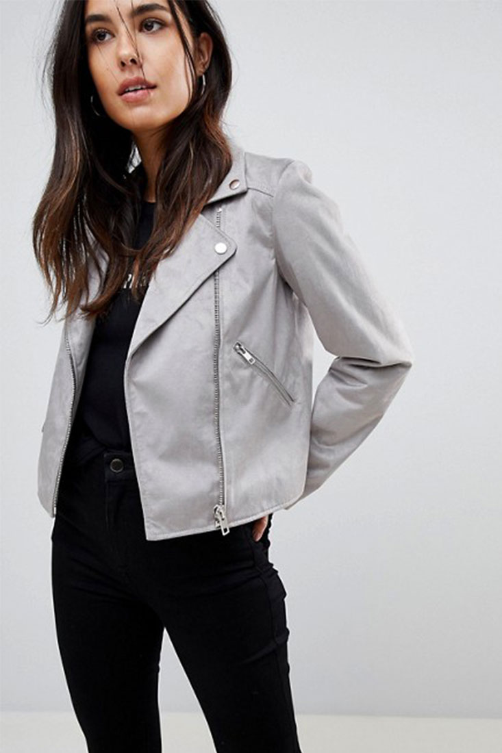 ASOS Suedette Biker Jacket | $72