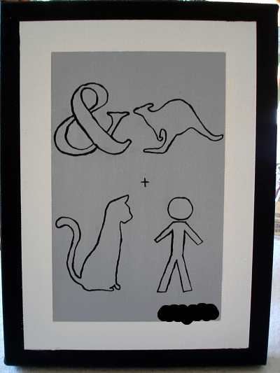 DIY canvas art, pictogram