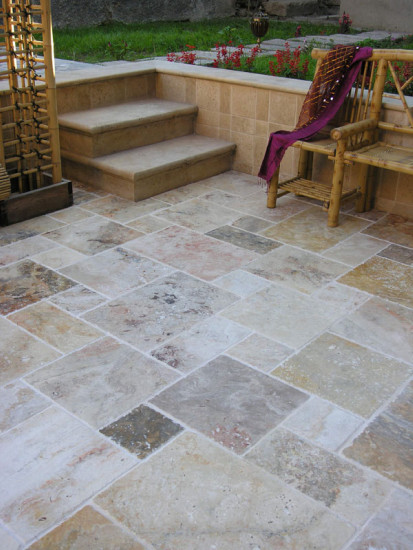 Travertine Stone Exterior patio