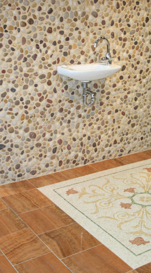 River Rock tile in a bathroom