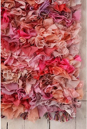 Urban Outfitters pink shag rag rug