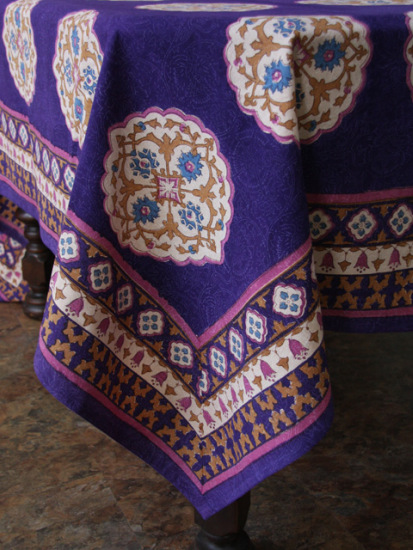 pink & purple morrocan tablecloth