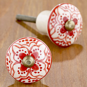 red floral knobs