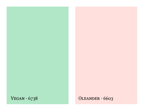 Sherwin Williams Vegan & Oleander