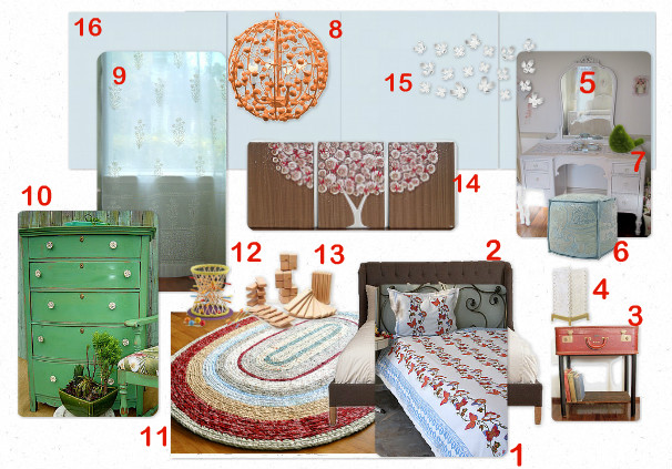 Bohemian Butteflies Bedroom mood board