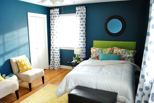 YHL guest room, peacock blue
