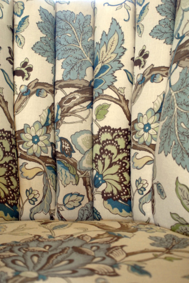 Tree of Life fabric, peacock blue