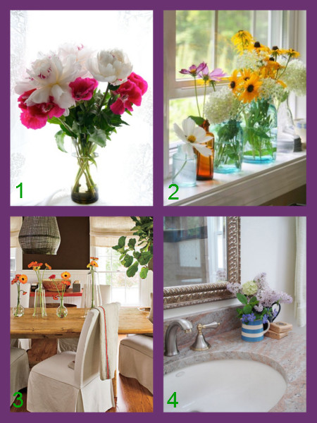 flowers in the home