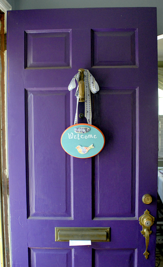 Mod Podge door plaque