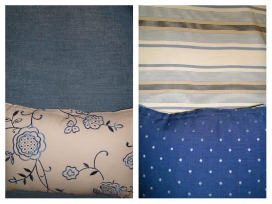 blue fabric combo