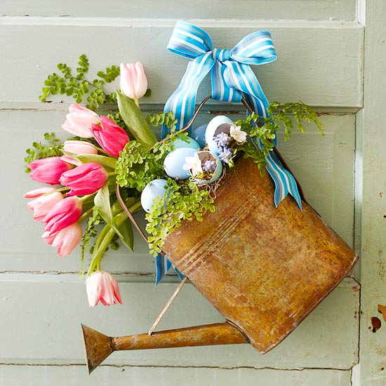 watering can door decor