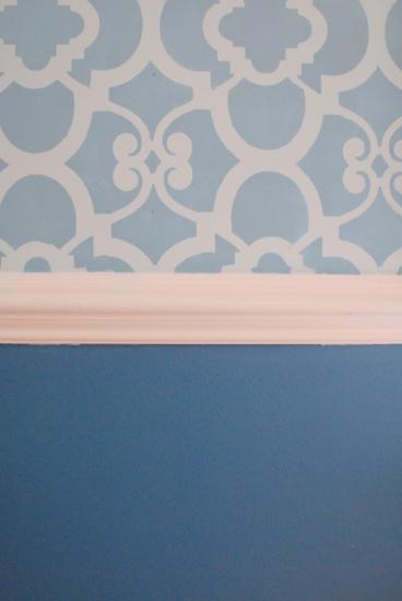 blue chez ali stencil
