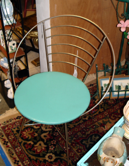 mid-century modern hoop chair