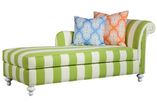 Lilly Pulitzer striped chaise