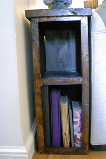 console table bookshelf