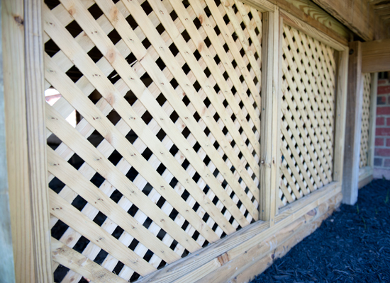 deck lattice work