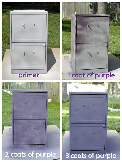 filing cabinet painting steps