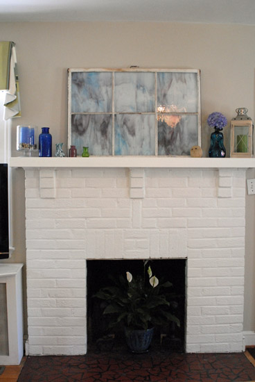 fireplace & mantel
