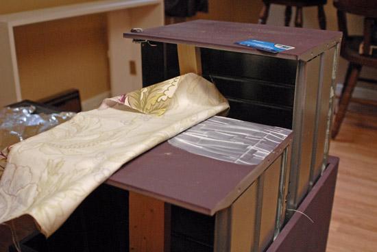 mod podging filing cabinet