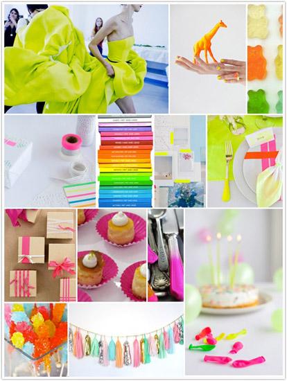 neon inspiration board