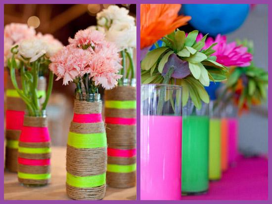 neon vases