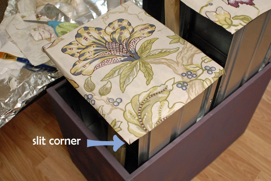 slit fabric corners