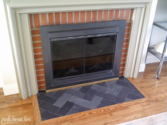 Herringbone-Slate-Fireplace-Hearth