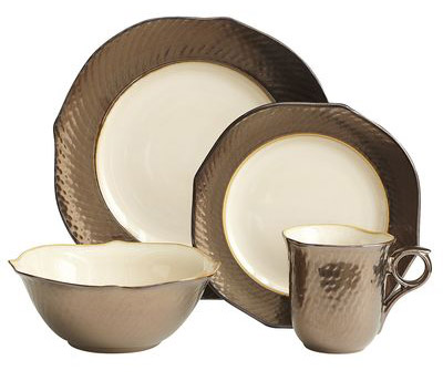 bronze dinnerware