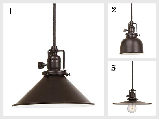 bronze pendant lights