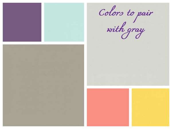 colors to pair with gray