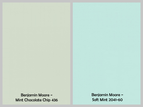 gray and mint green paint colors