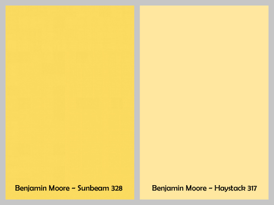 gray and yellow paint colors