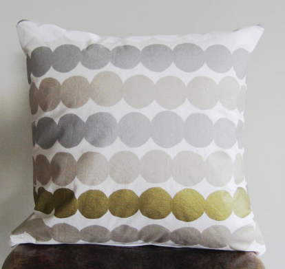 silver & gold dot pillow
