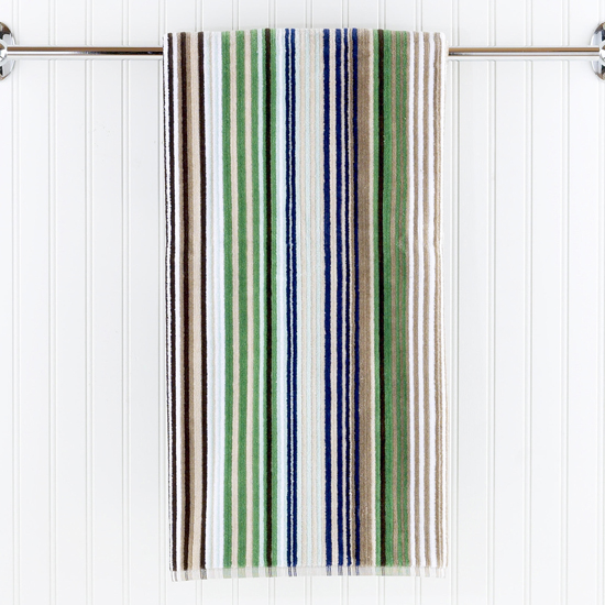 World Market striped bath towel