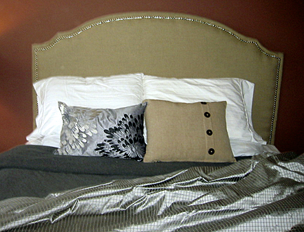 reupholstered headboard